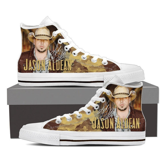 jason aldean ladies high top sneakers