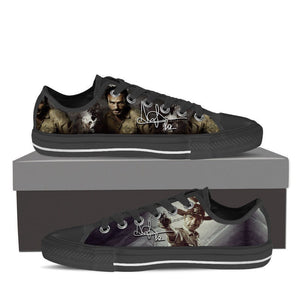 rick grimes mens low cut sneakers