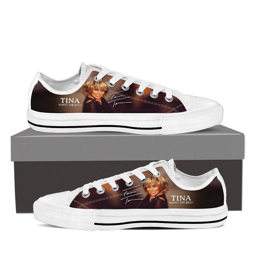 tina turner ladies low cut sneakers