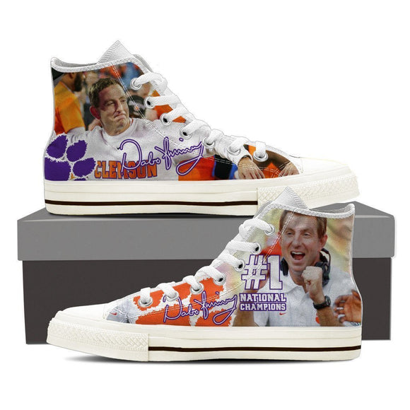 dabo swinney ladies high top sneakers