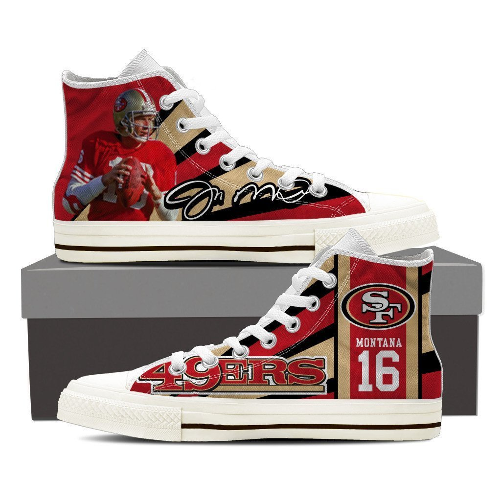 joe montana ladies high top sneakers