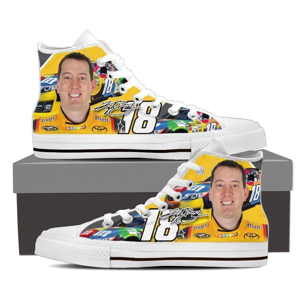 kyle busch mens high top sneakers