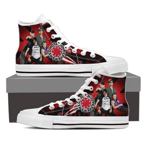 red hot chili peppers ladies high top sneakers