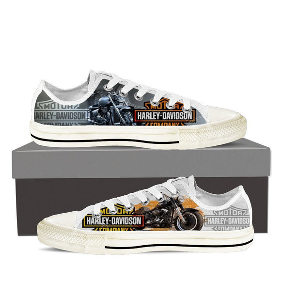 harley davidson ladies low cut sneakers