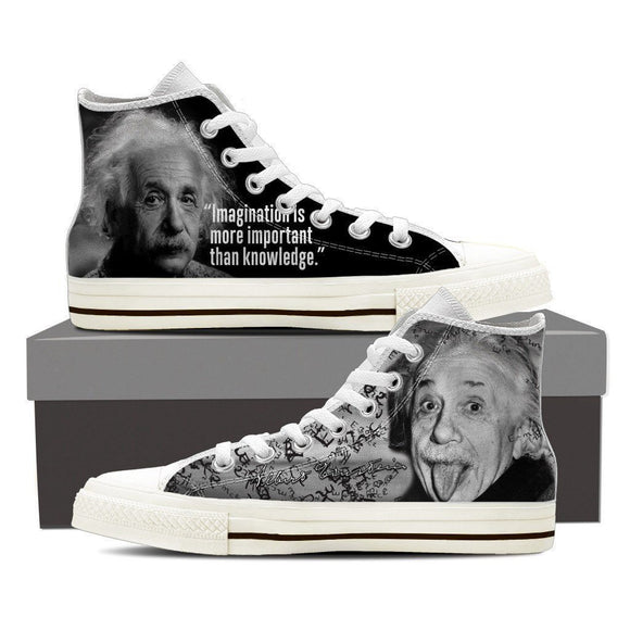 albert einstein ladies high top sneakers