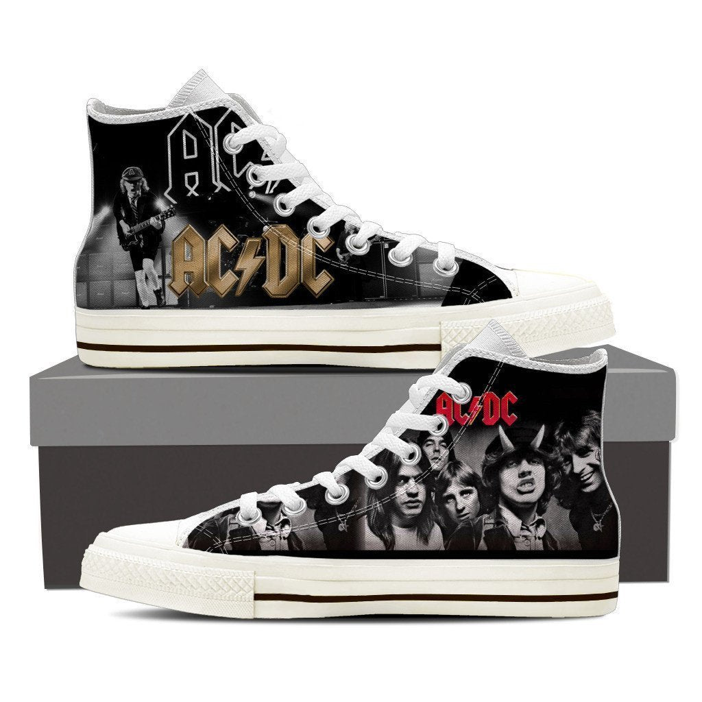 acdc band ladies high top sneakers