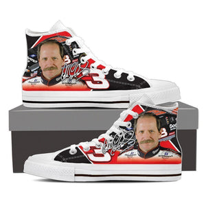 dale earnhardt ladies high top sneakers