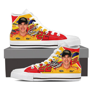 joey logano ladies high top sneakers
