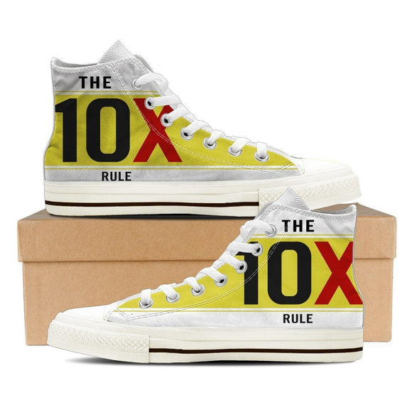 the 10x rule ladies high top sneakers