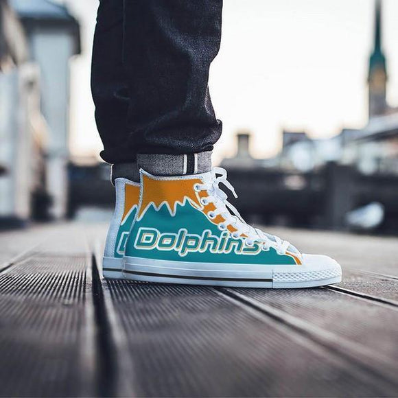 miami dolphins mens high top sneakers high top