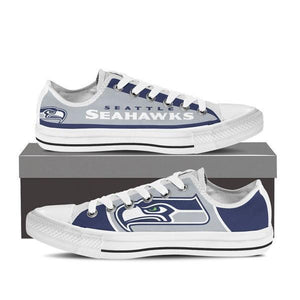 seattle seahawks mens low cut sneakers cut