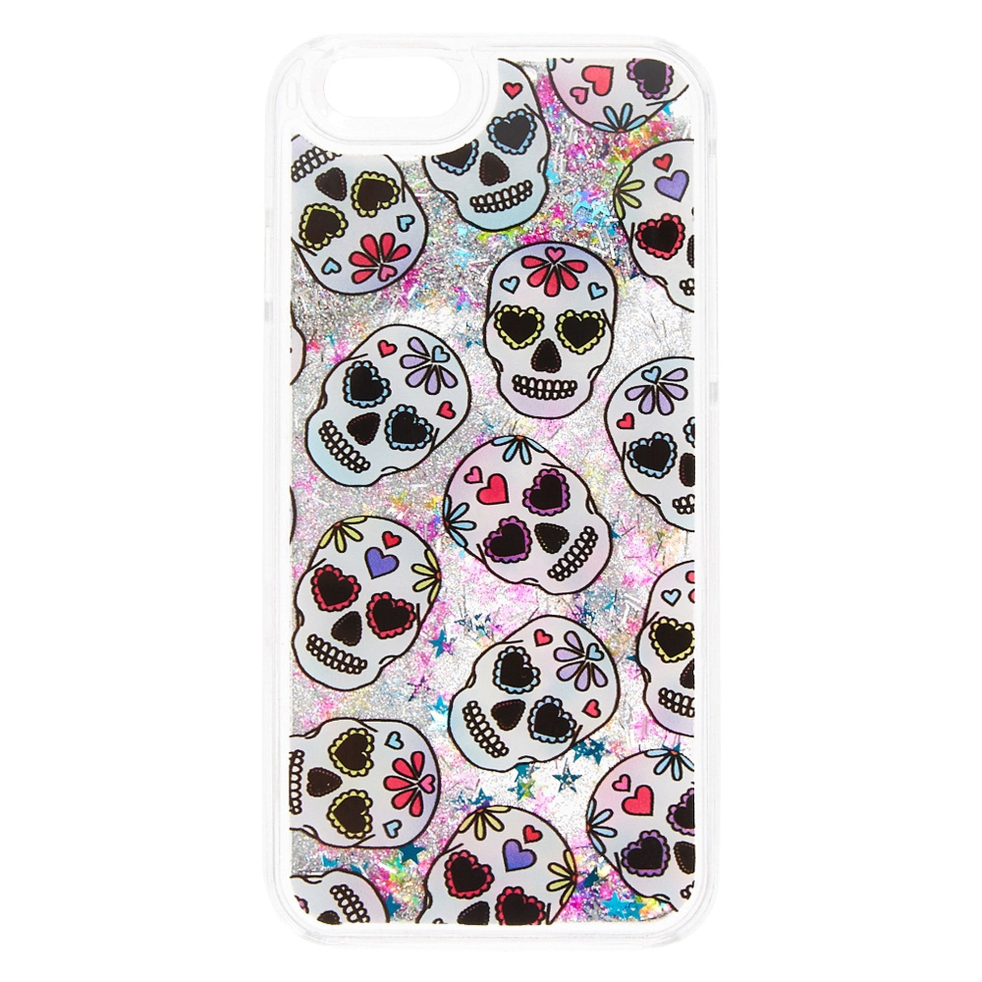 Pastel Sugar Skull Liquid Fill Phone Case