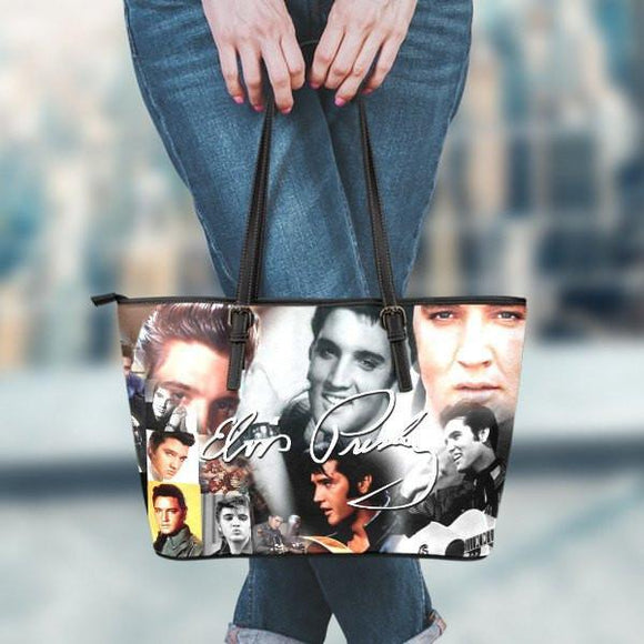 Elvis Presley Large Leather Tote Bag
