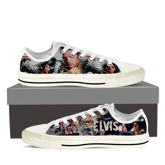 Elvis Presley Mens low cut sneakers
