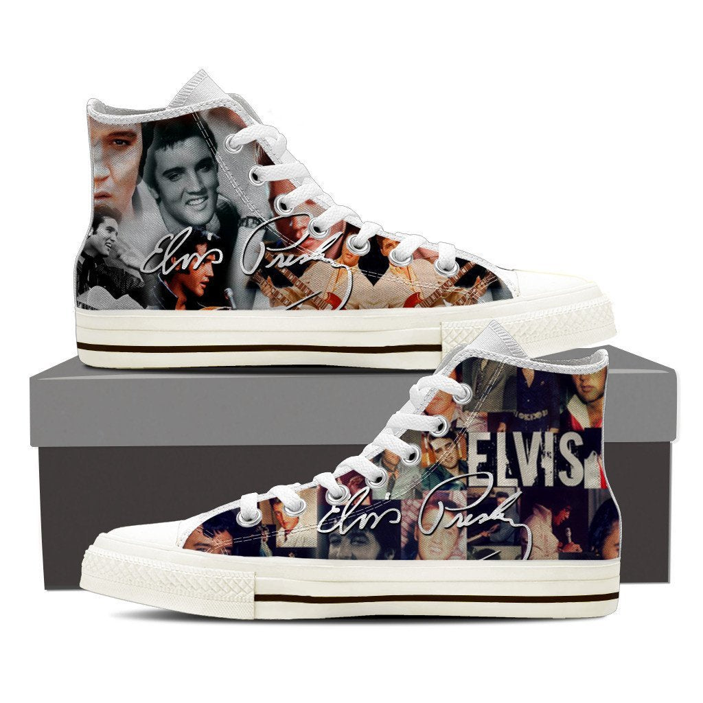 Elvis Presley Mens high top sneakers