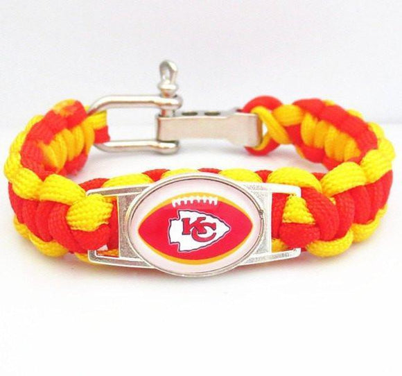 kansas city chiefs paracord bracelet free