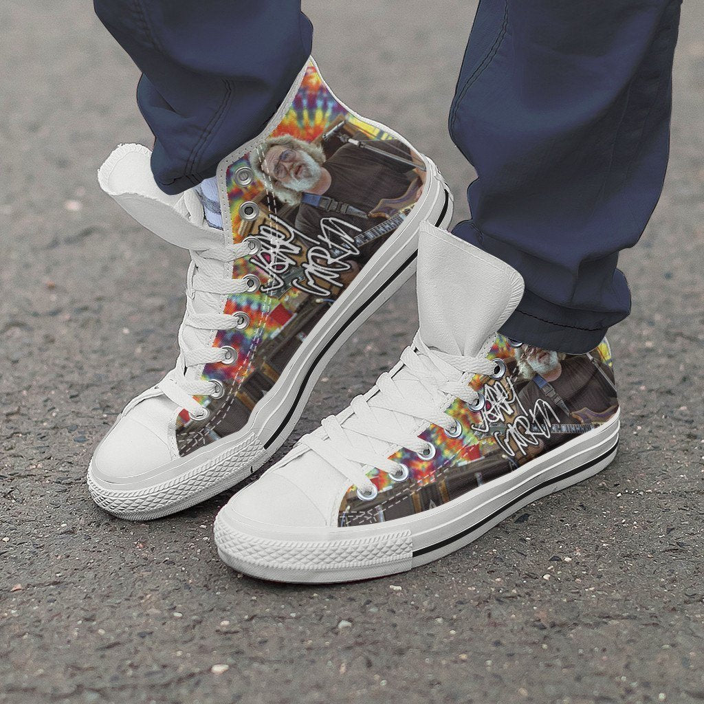 jerry garcia signature mens high top sneakers