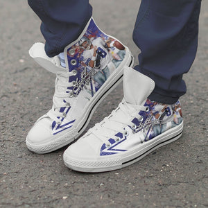 troy aikman mens high top sneakers