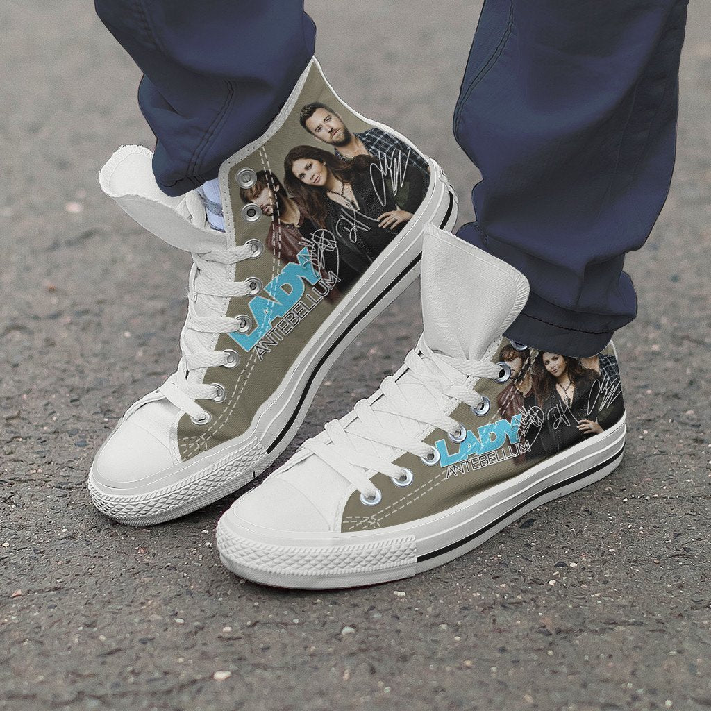 lady antebellum mens high top sneakers