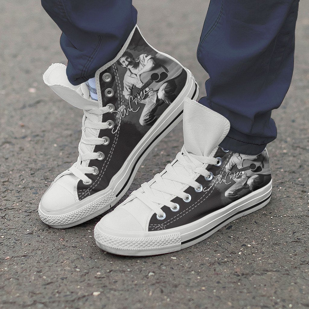 jim croce mens high top sneakers