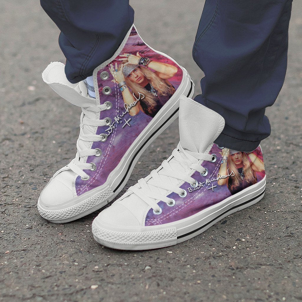 bret michaels mens high top sneakers