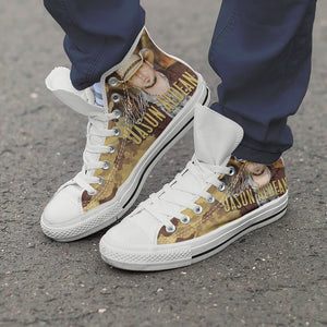 jason aldean mens high top sneakers