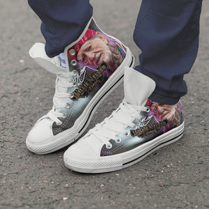 willie nelson mens high top sneakers