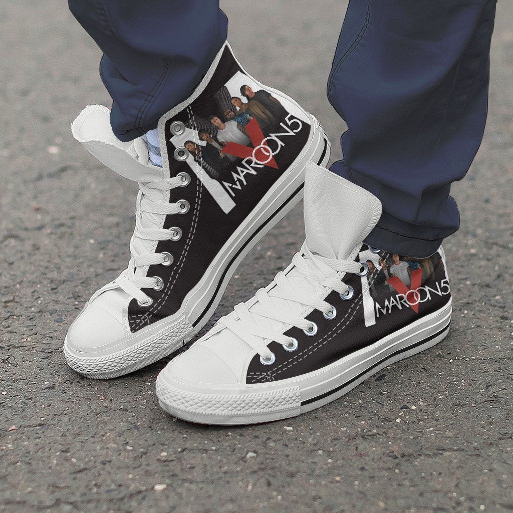 maroon 5 ladies high top sneakers