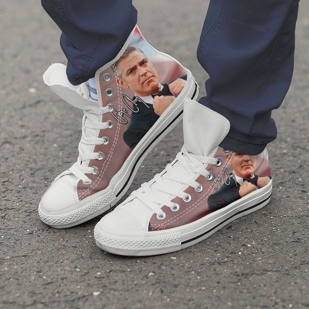 george clooney mens high top sneakers