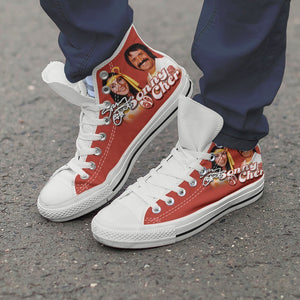 sonny and cher ladies high top sneakers