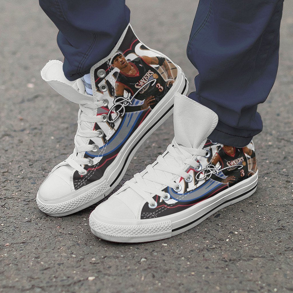 allen iverson mens high top sneakers