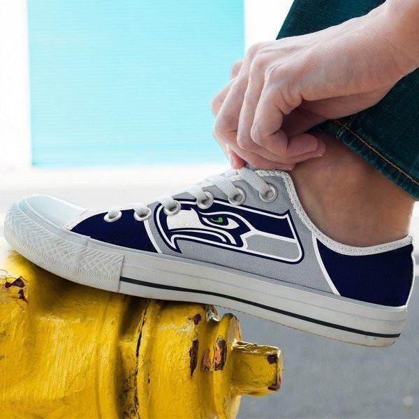 seattle seahawks mens low cut sneakers cut 1