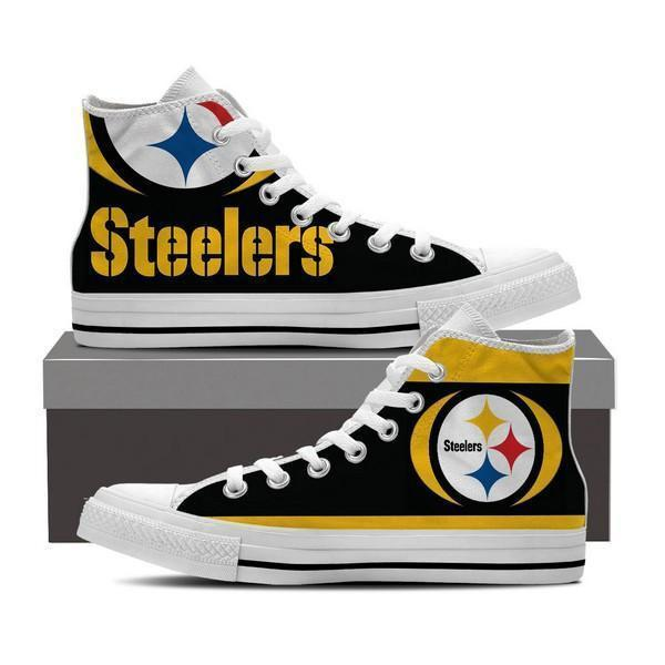 pittsburg steelers mens high top sneakers high top