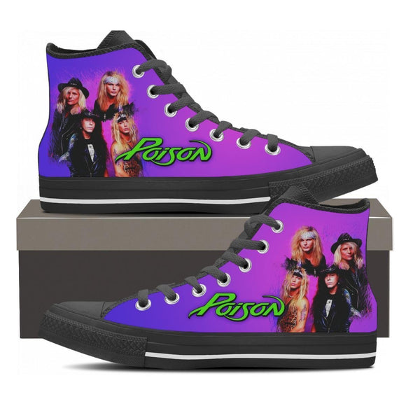 poison new ladies high top sneakers