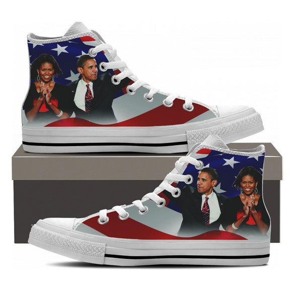 michelle and obama mens high top sneakers