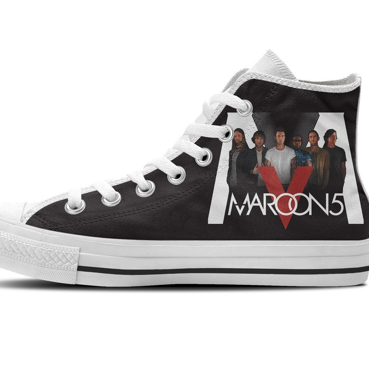 maroon 5 mens high top sneakers