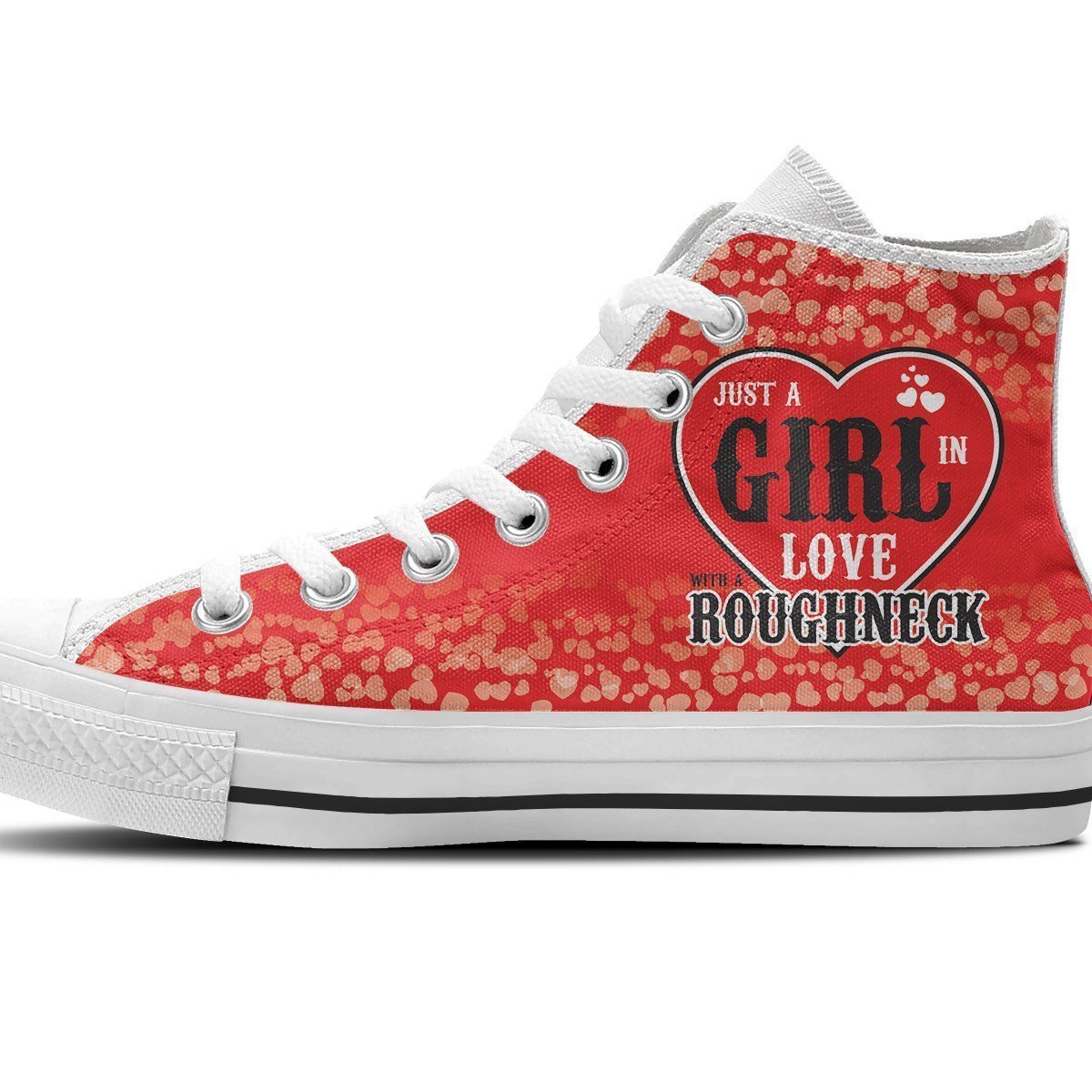 roughneck girl ladies high top sneakers