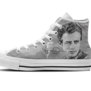 james dean ladies high top sneakers