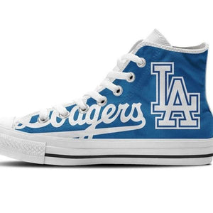 los angeles dodgers ladies high top sneakers