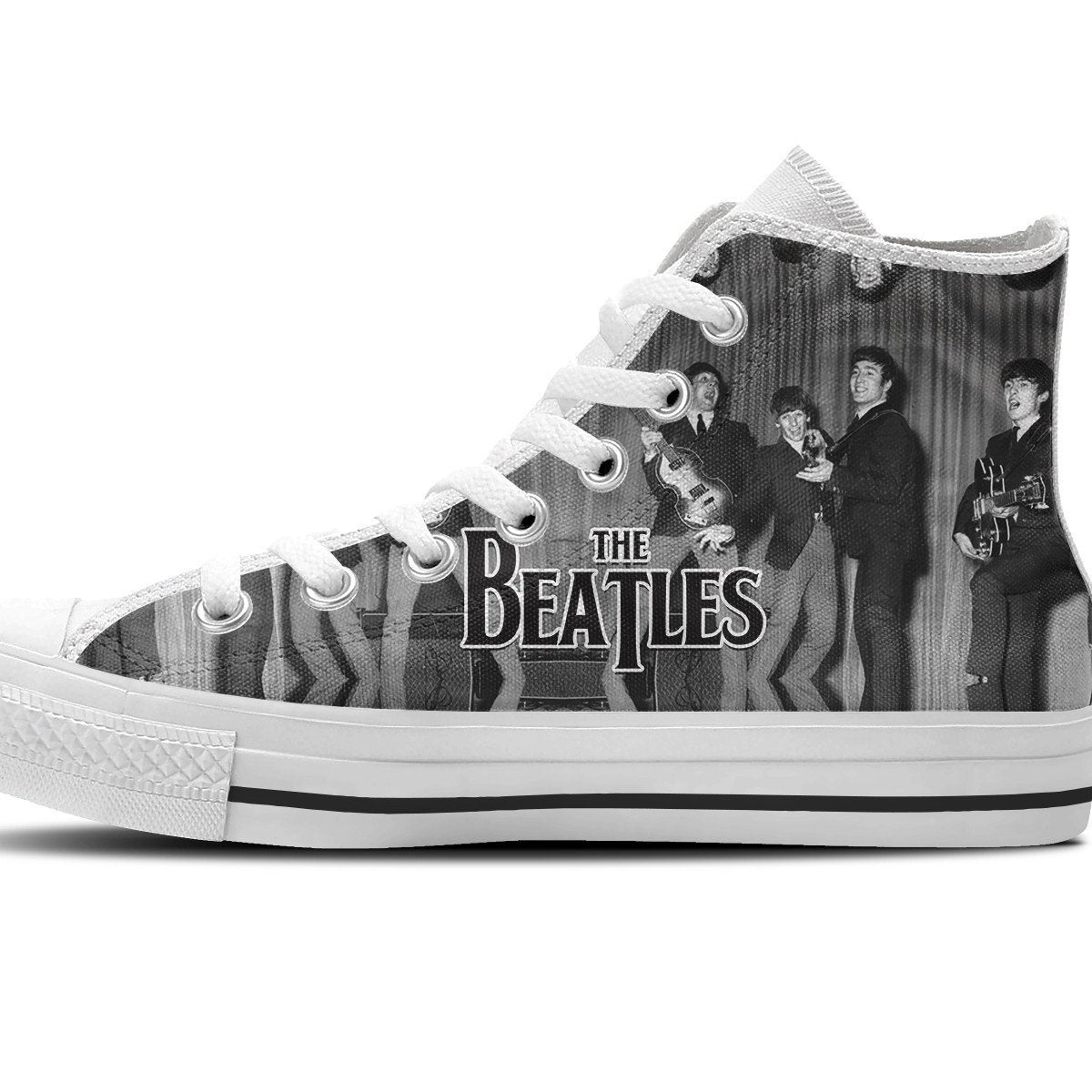 the beatles mens high top sneakers