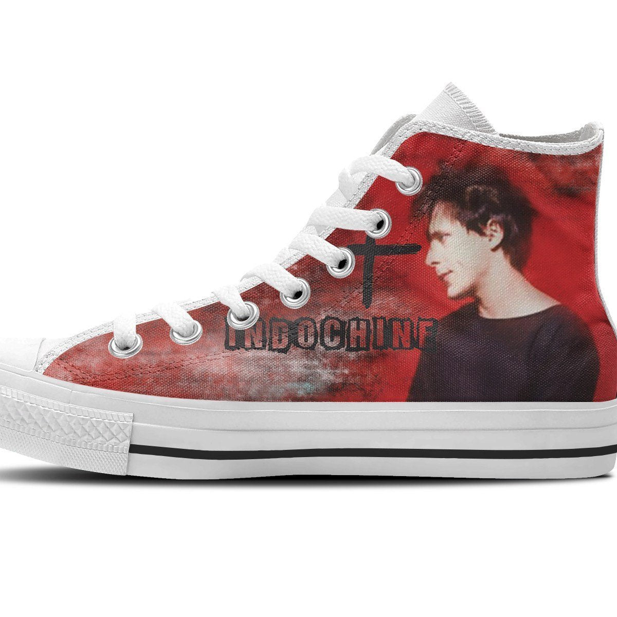 indochine band ladies high top sneakers