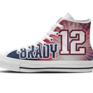 tom brady ladies high top sneakers