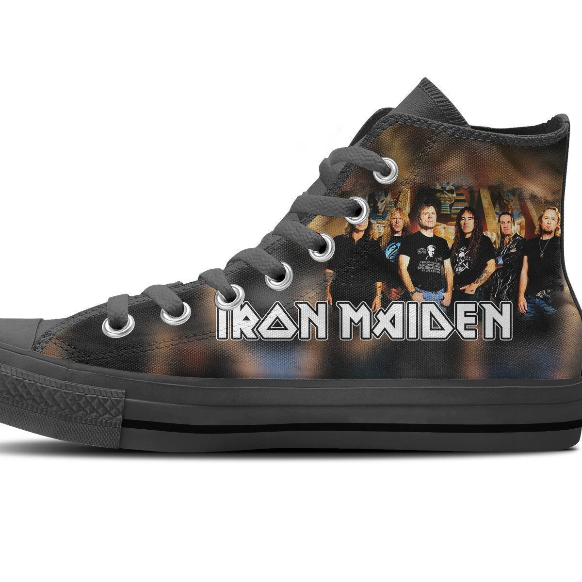 iron maiden mens high top sneakers