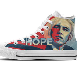 obama hope ladies high top sneakers