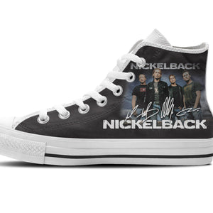 nickelback mens high top sneakers