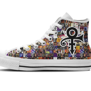prince  ladies high top sneakers
