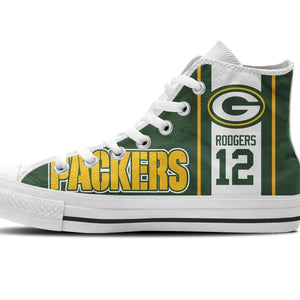 aaron rodgers ladies high top sneakers