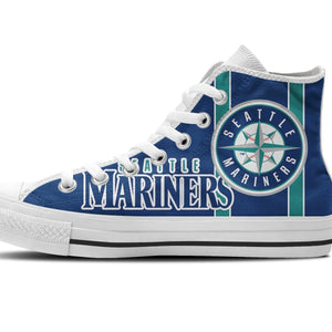 seattle mariners mens high top sneakers