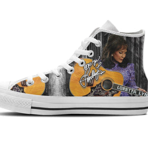 loretta lynn mens high top sneakers