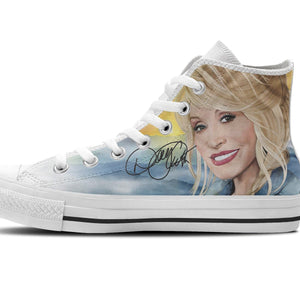 dolly parton mens high top sneakers